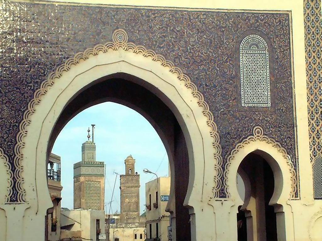 Puerta de la medina de Fez  Marruecos -> Diffuseur Cuivre De La Medina